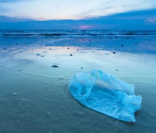 Sahilde plastik torba