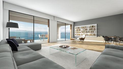 Sala de estar com vista