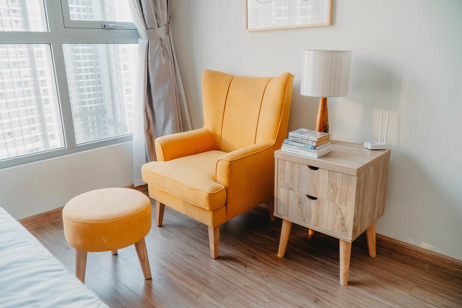 Cozy reading area.