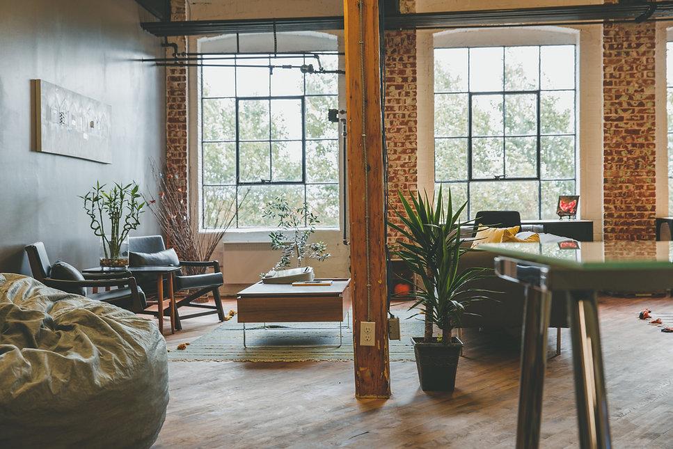 Gerenoveerde woonkamer