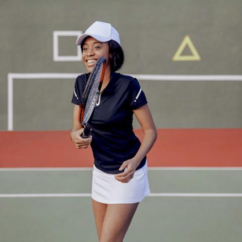 Happy Tennis Player