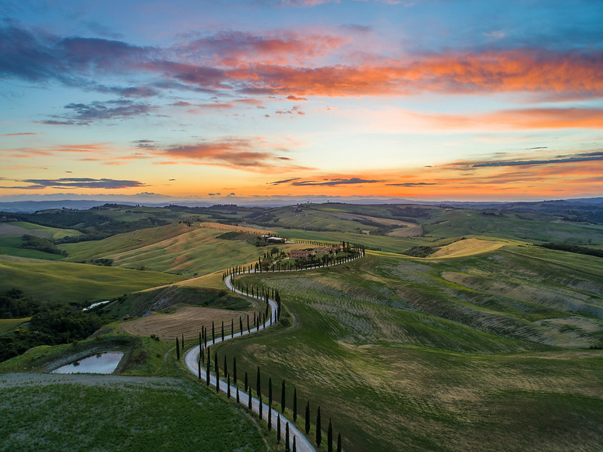 Tramonto in Toscana