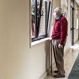 Senior with Mask