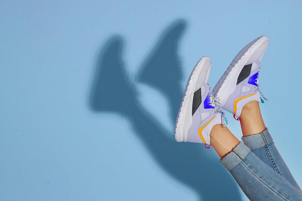 les jambes en l'air