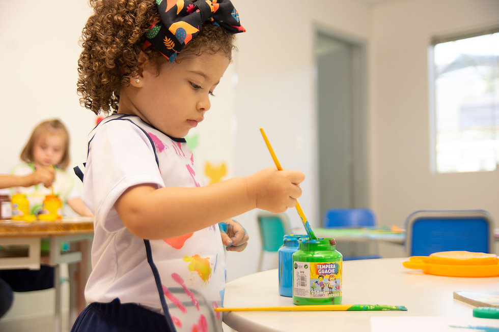 Girl with Acrylic Paints