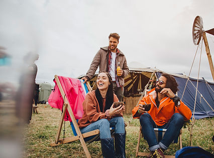 Camping at Festival