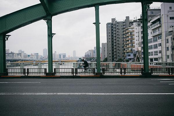 Biker on the Bridge
