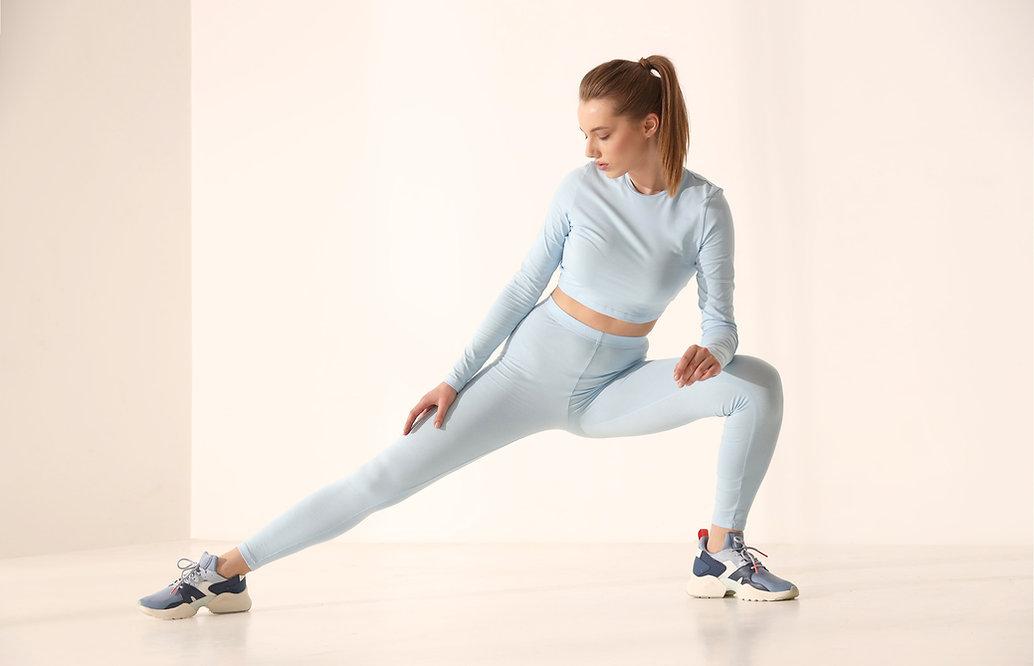 Blaue Sportbekleidung