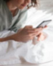 Mensajes de texto de mujer