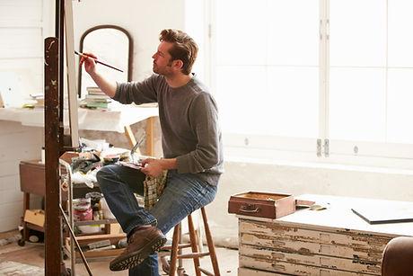Kunstenaar aan het werk