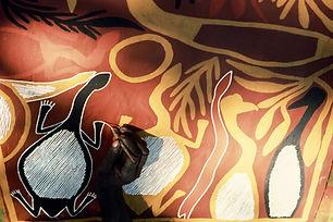 Aborigine Bark Painting