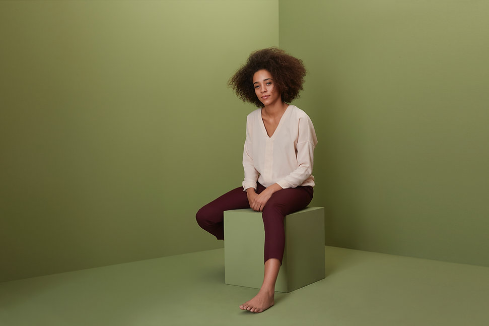 Model With Green Backdrop
