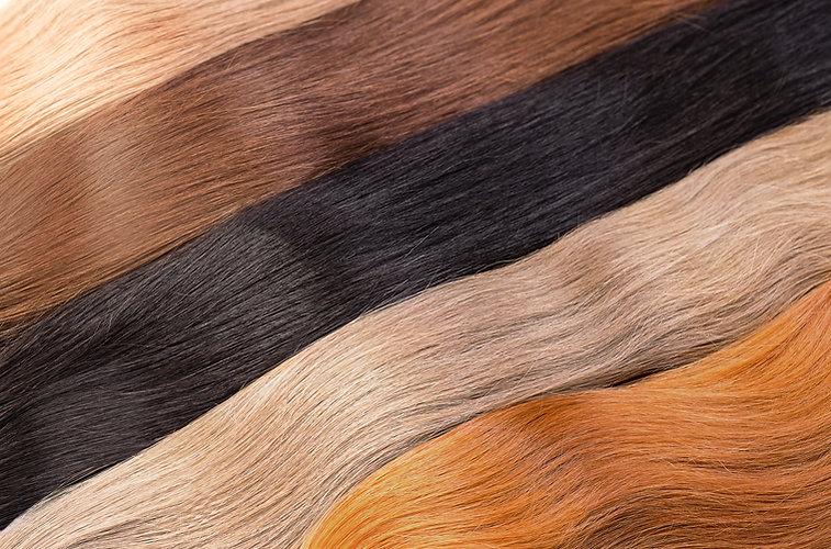 Cores da extensão do cabelo