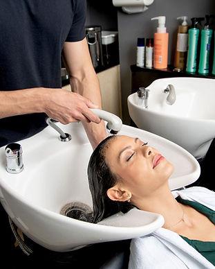 Hairwashing at the Salon