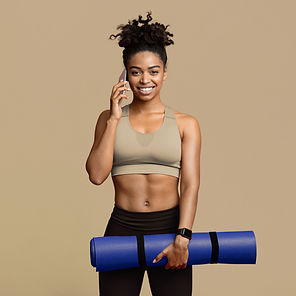 Fit Woman with Yoga Mat