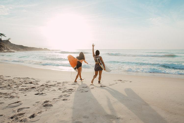 Amigas de surf