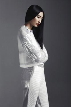 Fashion Model in White