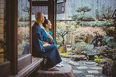 Kimono Garden Couple
