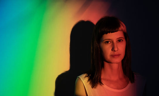Portrait with Rainbow Colors