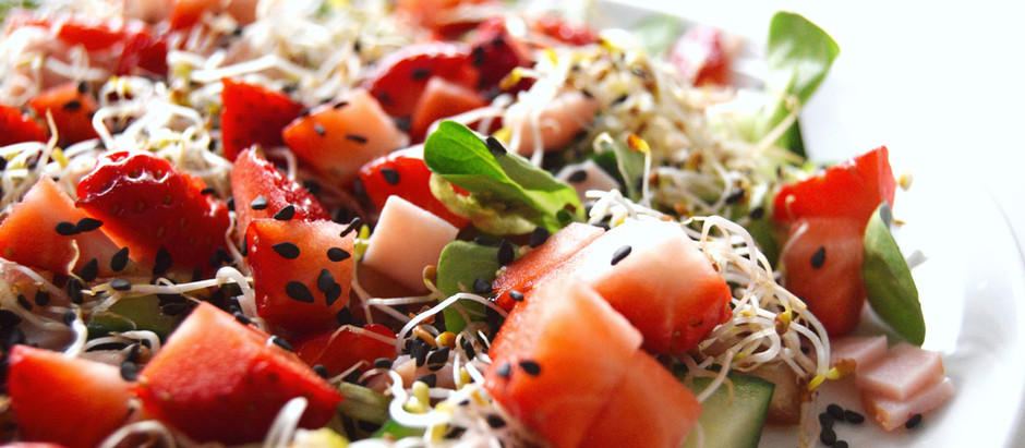 Watermelon and Grilled Halloumi Salad with Pink Peppercorn Vinaigrette