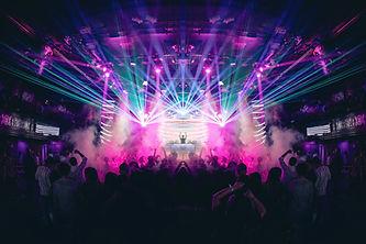 Lumières à un concert