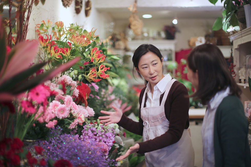 Al negozio di fiori
