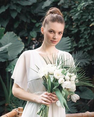 Bride with Bouquet in an international destination