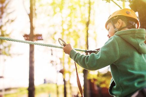 Cours de corde au camp d'été
