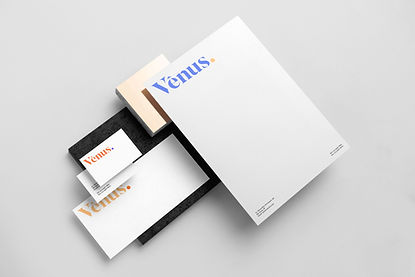 Stationery done for a brand called Venus. identity developed in a brand strategy workshop.