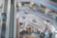 Escalators de centre commercial