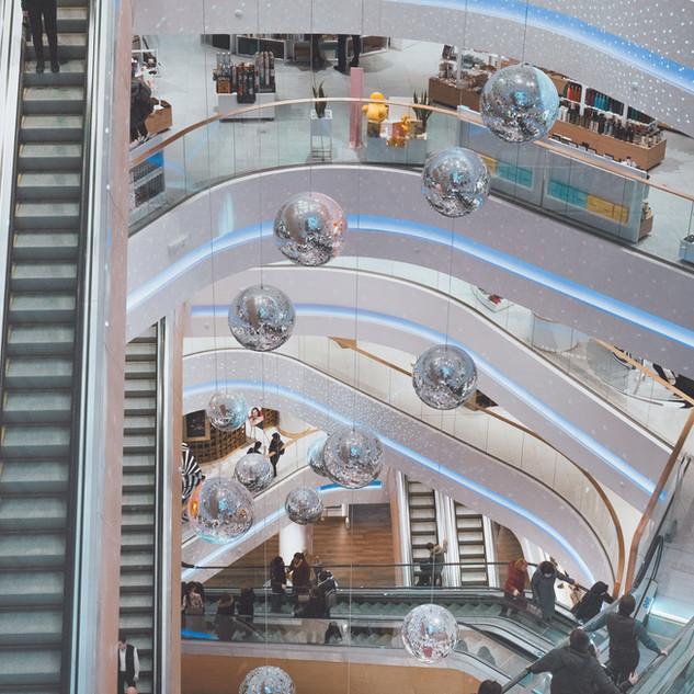 Shoppingcenter Rulltrappor