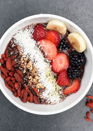 Smoothie Bowls & Healthy Options
