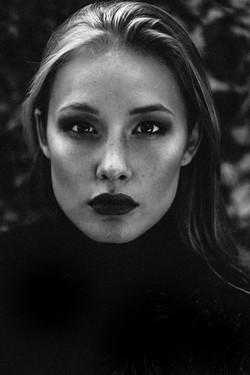 Portrait en noir et blanc