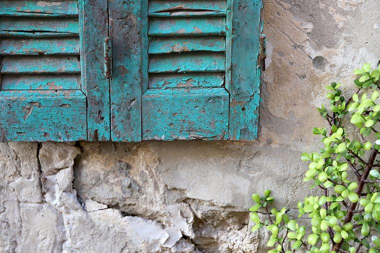 Marco de ventana oxidado