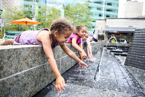Playing in a Fountain
