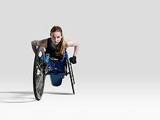 Athlète en fauteuil roulant