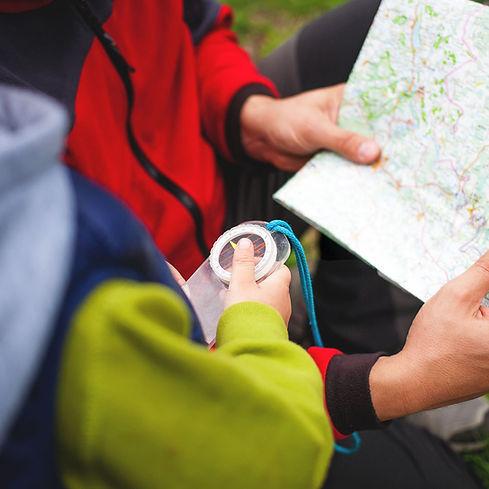 Eine Karte lesen