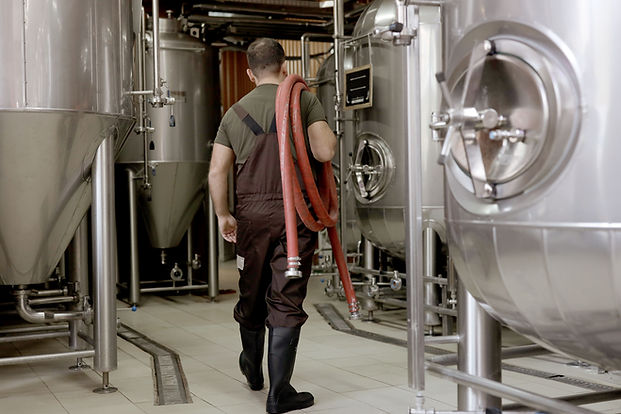 Beer Maker in Brewery