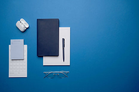Objetos personales azules
