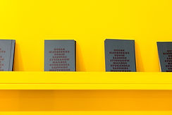 Books on a Yellow Wall