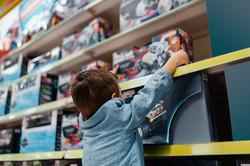 Boy in Toy Store
