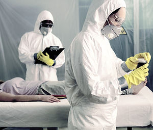 Doctors with Bacteriological Protection
