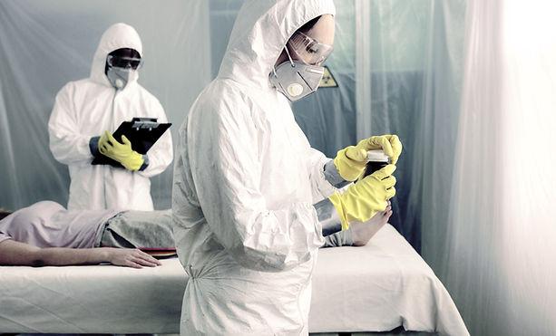 細菌防護服醫生
