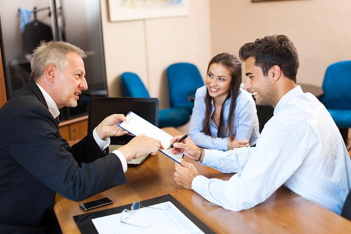 Lawyer with Clients