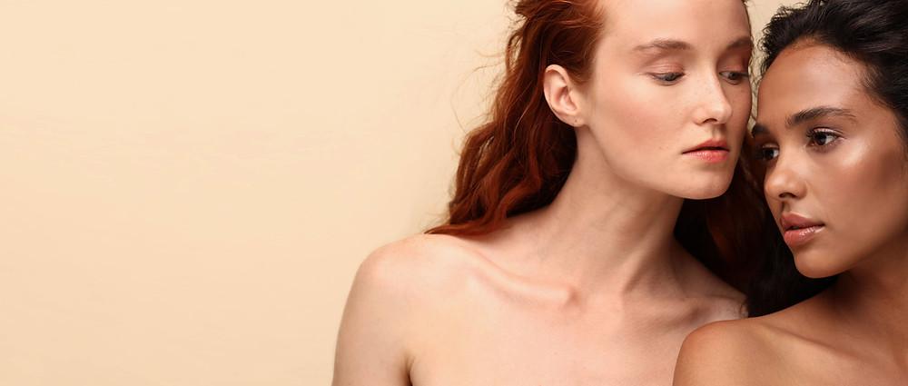 נשים עם עור פנים בריא