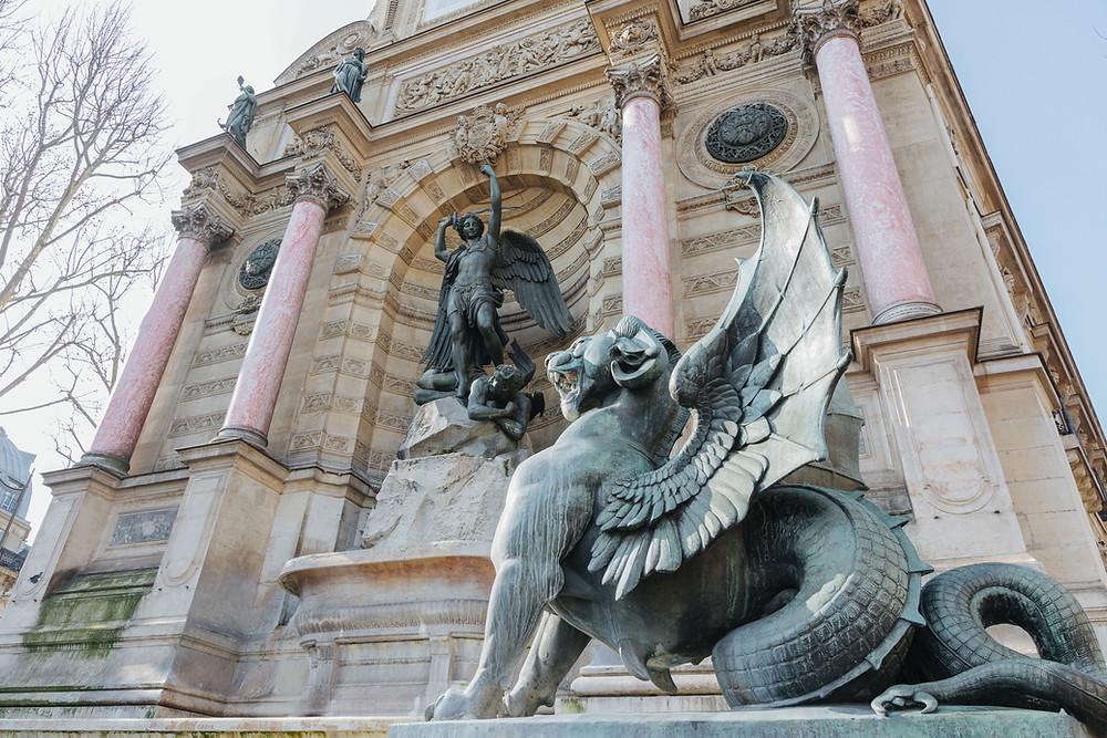 A photo of Fontaine Saint-Michel in Paris.
