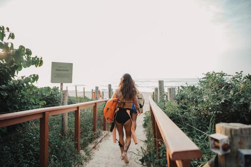 Caminhando para a água