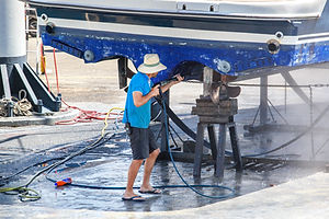 Cleaning Boat