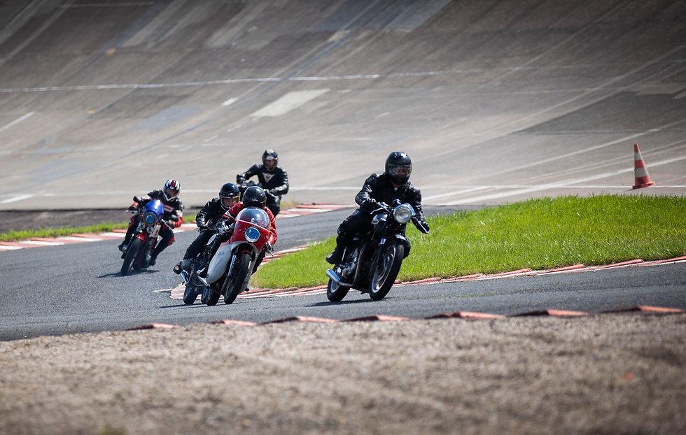 Tre motorsykler
