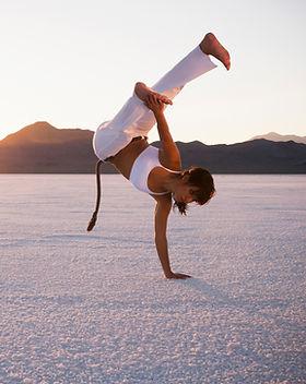 Mulher capoeirista